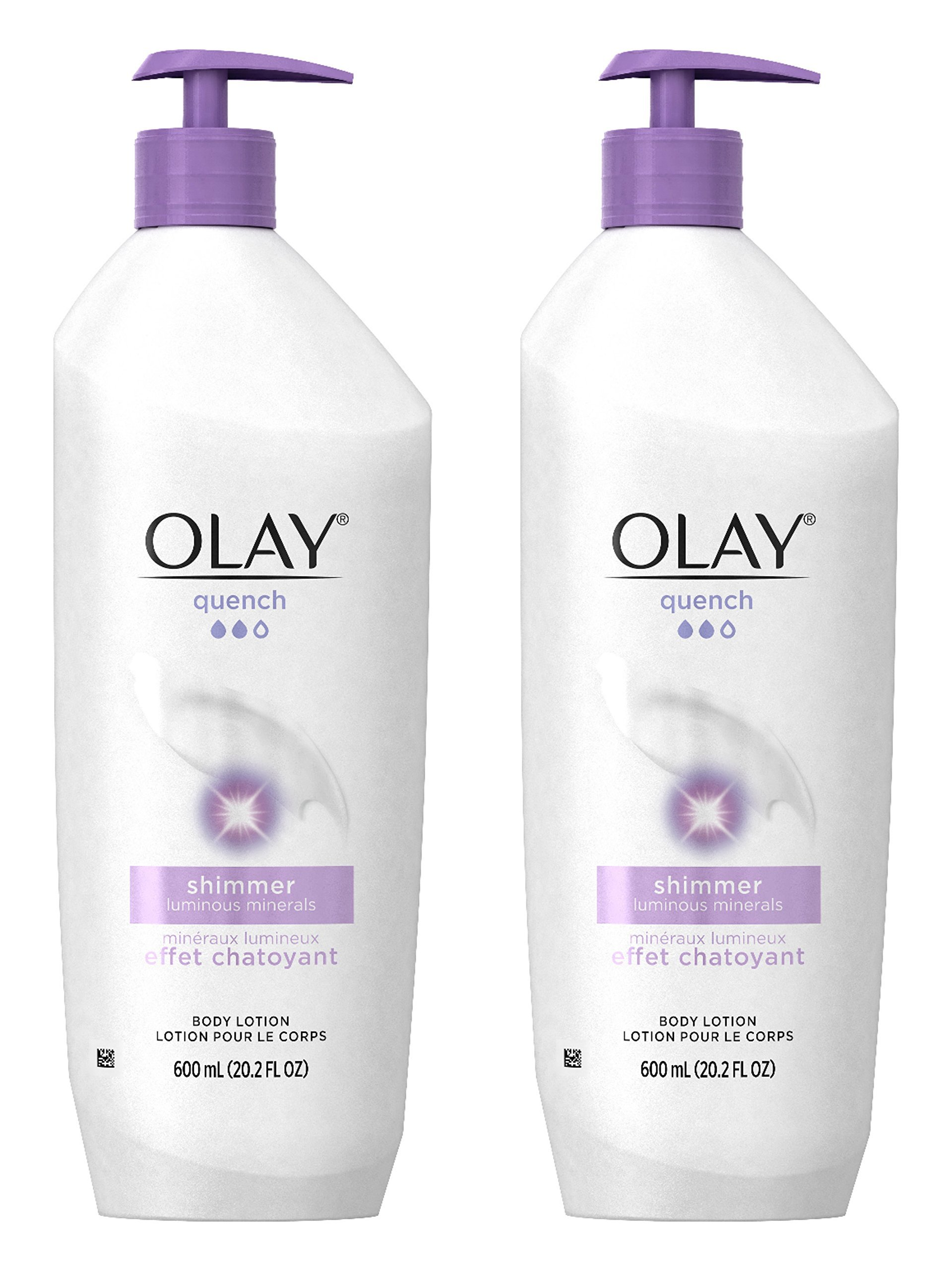 Olay Quench Ultra Moisture Shea Butter Body Lotion, 20.2 fl oz (Pack of 2) Packaging May Vary by Olay