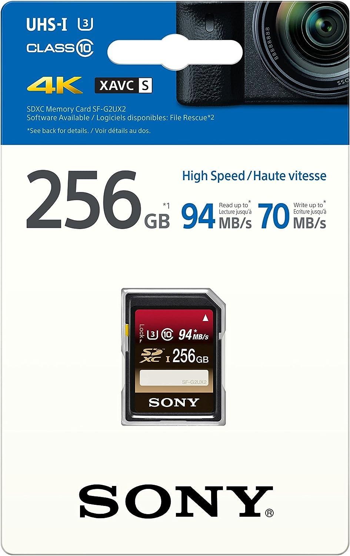 Sony SFG2UX2 - Tarjeta de Memoria SD de 256 GB, Color Negro ...