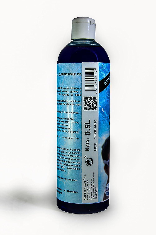 Clean Storm®: Clarificador, Floculante y Eliminador de Grasas-Aceites en Piscinas-SPA. Botella 500 ml