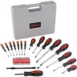 Conjunto de chaves de fenda Stalwart com suporte de armazenamento para pendurar – ferramenta ergonômica com ponta magnética,