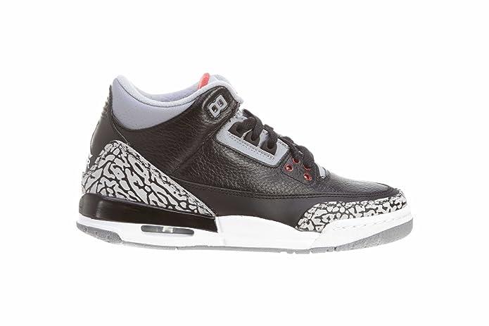 3effe89f054 Amazon.com   Nike Air Jordan 3 Retro GS Black Cement Grey Youth Basketball Shoes  398614-010   Basketball