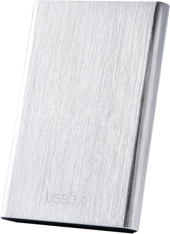 External Hard Drive,Portable Hard Drive1TB 2TB 4TB External HDD USB 3.0 for PC, Laptop and Mac(1TB Silver)