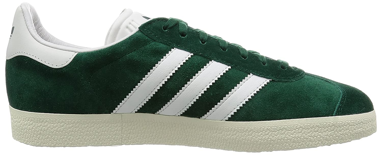adidas Gazelle, Sneakers Basses Mixte Adulte, Vert - (Green/White/Gold
