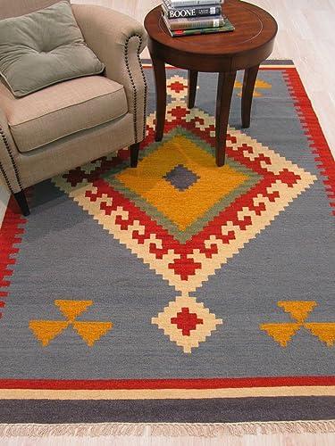 EORC DN6MU Handmade Wool Keysari Kilim Rug