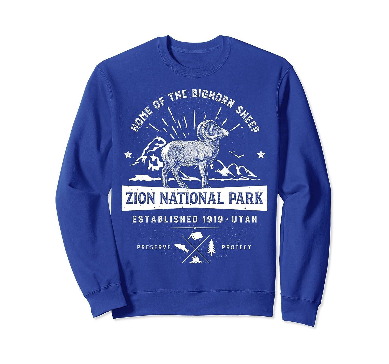 Zion National Park Sweatshirt Vintage Bighorn Utah Men Women-alottee gift