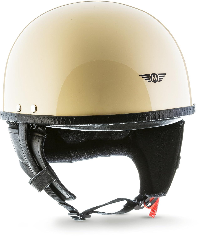 MOTO  · D22 'Creme' (Gelb)  · Jet-Helm Halbschalen-Helm  · Roller Scooter-Helm Motorrad-Helm Chopper Mofa Retro  · Fiberglass Braincap Bobber  · Extra small Shell  · Click-n-SecureTM Clip  · Tragetasche  &mi