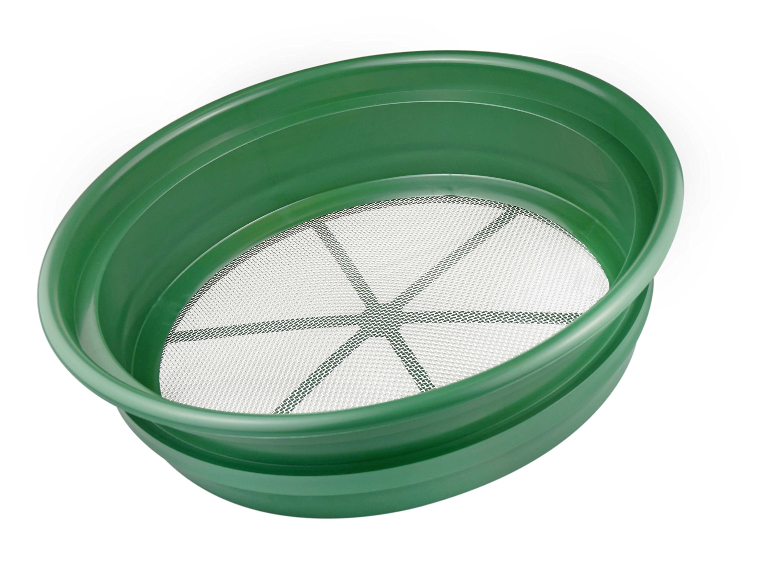 SE GP2-112 Patented Stackable 13-1/4'' Sifting Pan, Mesh Size 1/12''