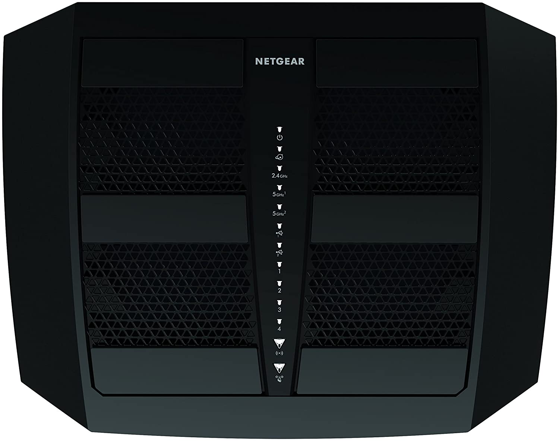 Netgear Nighthawk R8000-100UKS - Router Gaming X6 con tecnología WiFi X6 AC3200 Tri-Band (3200 Mbit/s, 1 x USB 3.0, 1 x USB 2.0, 5 Puertos Ethernet Gigabit) ...