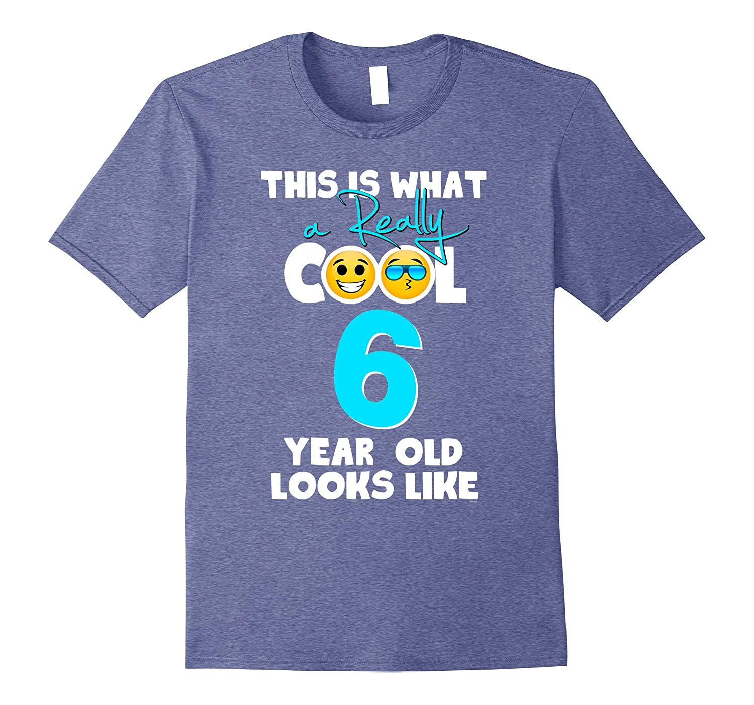 Kids Emoji 6th Birthday Gifts For 6 Year Old Boys T Shirt CD