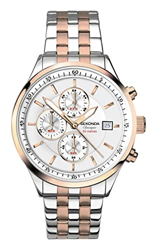 137bb544dfd9 Sekonda Men's Chronograph Quartz Watch with Stainless Steel Strap 1168.27:  Amazon.co.uk: Watches