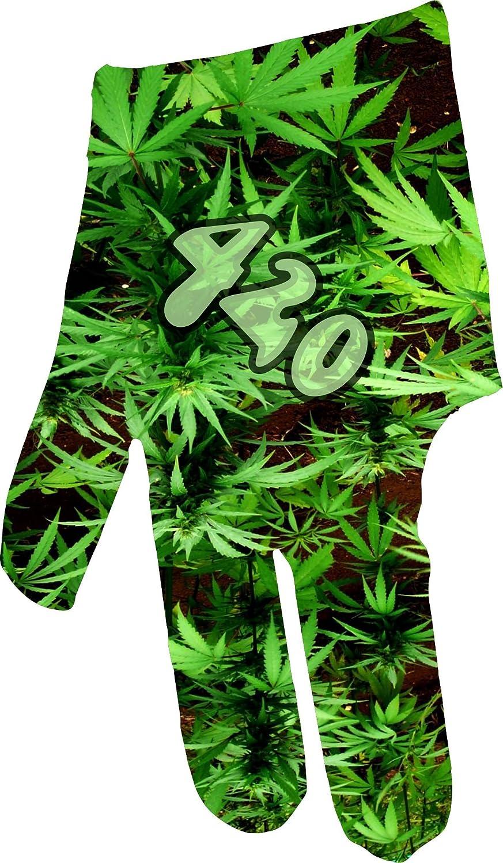 三角形Dreamz Leafy 420ビリヤードグローブ B07FK36WJ1 Left