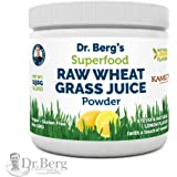 Natural Lemon Flavored Wheat Grass Powder with KamutTM -Raw & Ultra-Concentrated Nutrients -Rich in Vitamins, Chlorophyll & Trace Minerals (1 Pack)