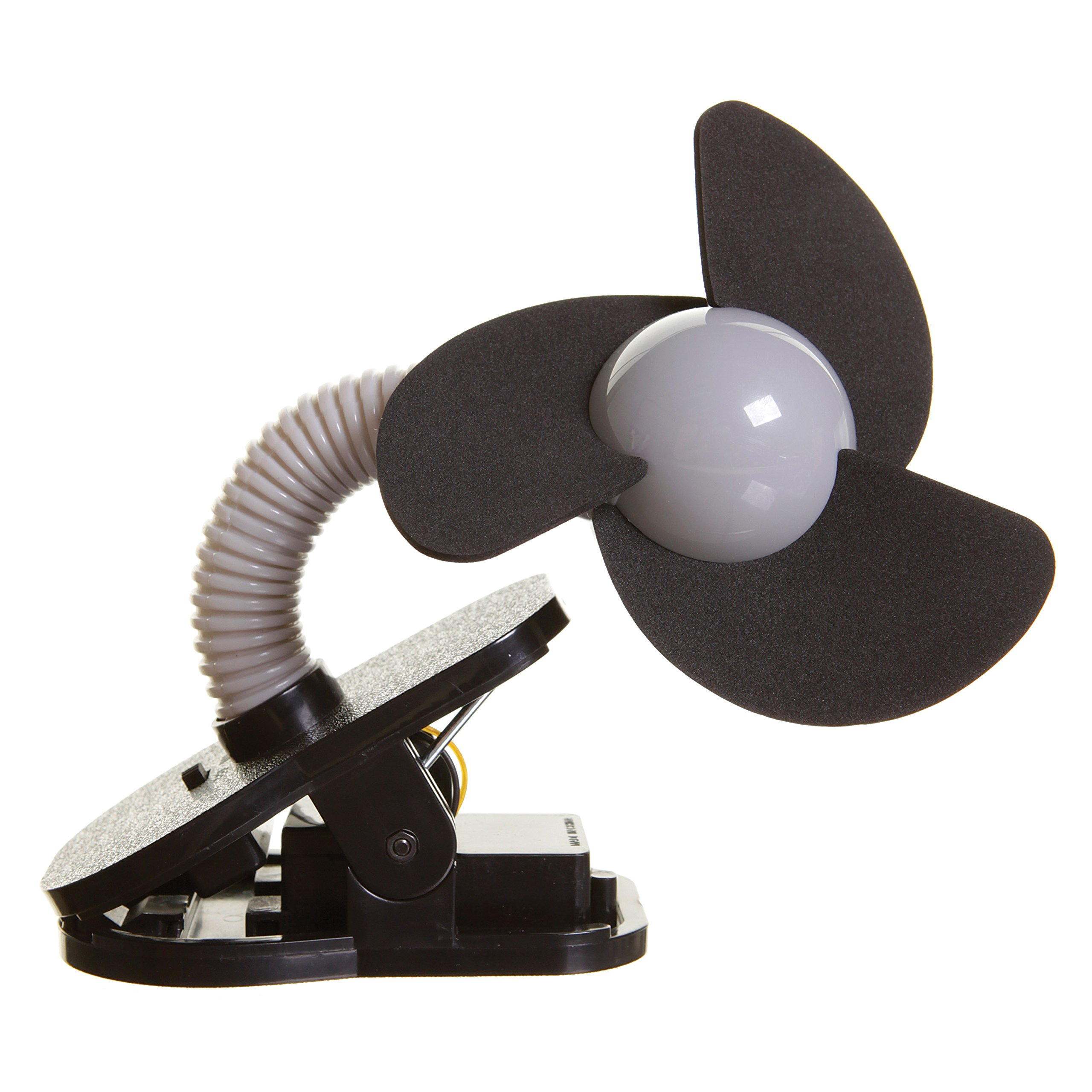 Dreambaby Clip on Stroller fan great for the Beach, Pool, Camping, Work, Lounging or Just Chillin! (Black/Silver)