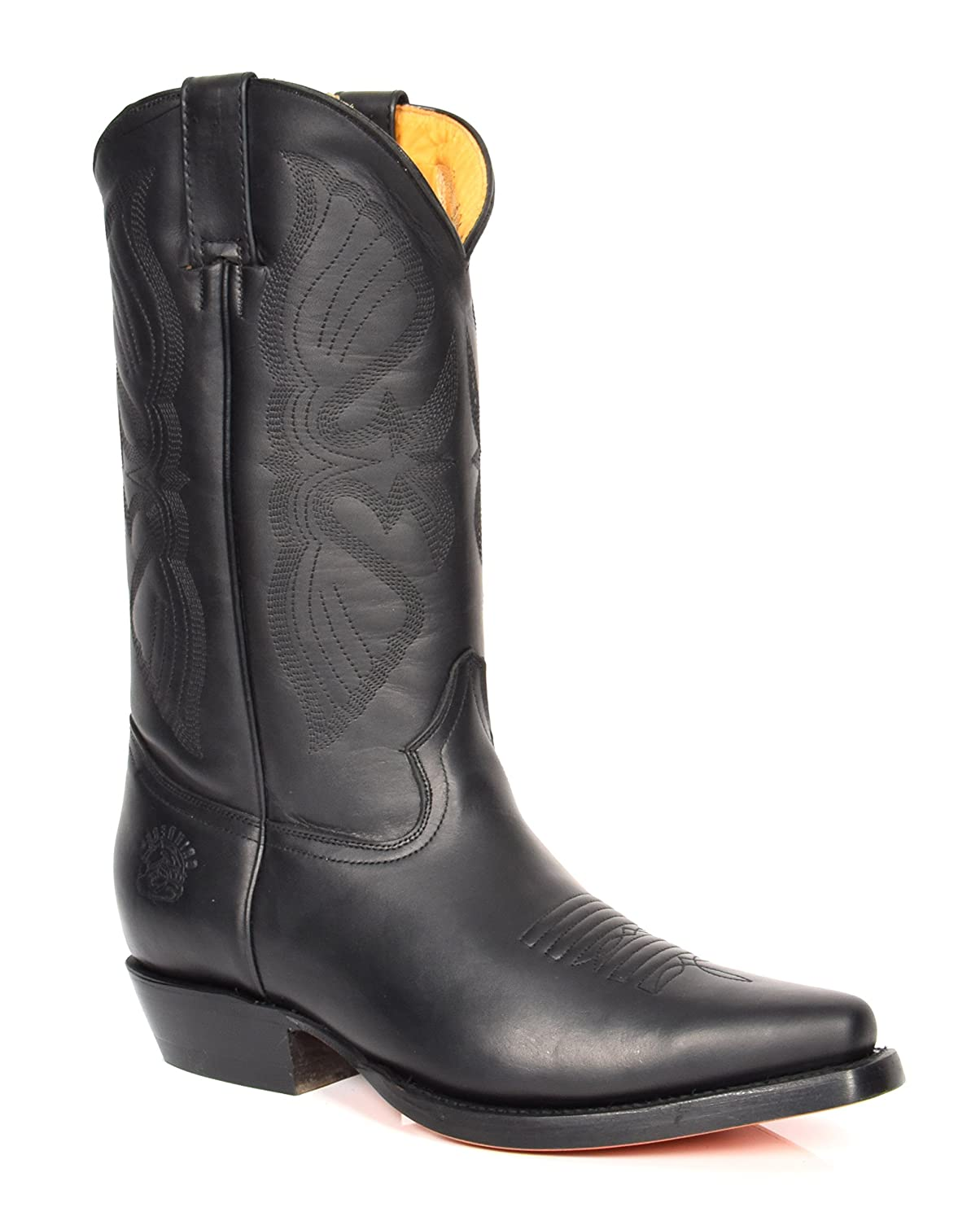 House of Leather Leder Cowboy Stiefel überstreifen Spitzer