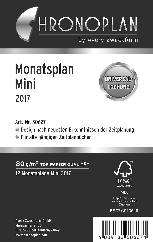 Chronoplan 50287 - Recambio para agenda 2017 (plan mensual ...