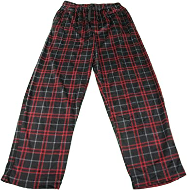 Izod Mens Size Medium Soft Touch Fleece Sleep Pajama Pants Black Red