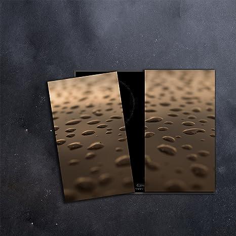 Herdabdeckplatten 2x30x52 cm Ceranfeld Abdeckung Glas Spritzschutz Abstraktion