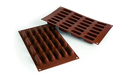SF125 Molde de silicona para chocolate con forma de chocogianduia, color marrón