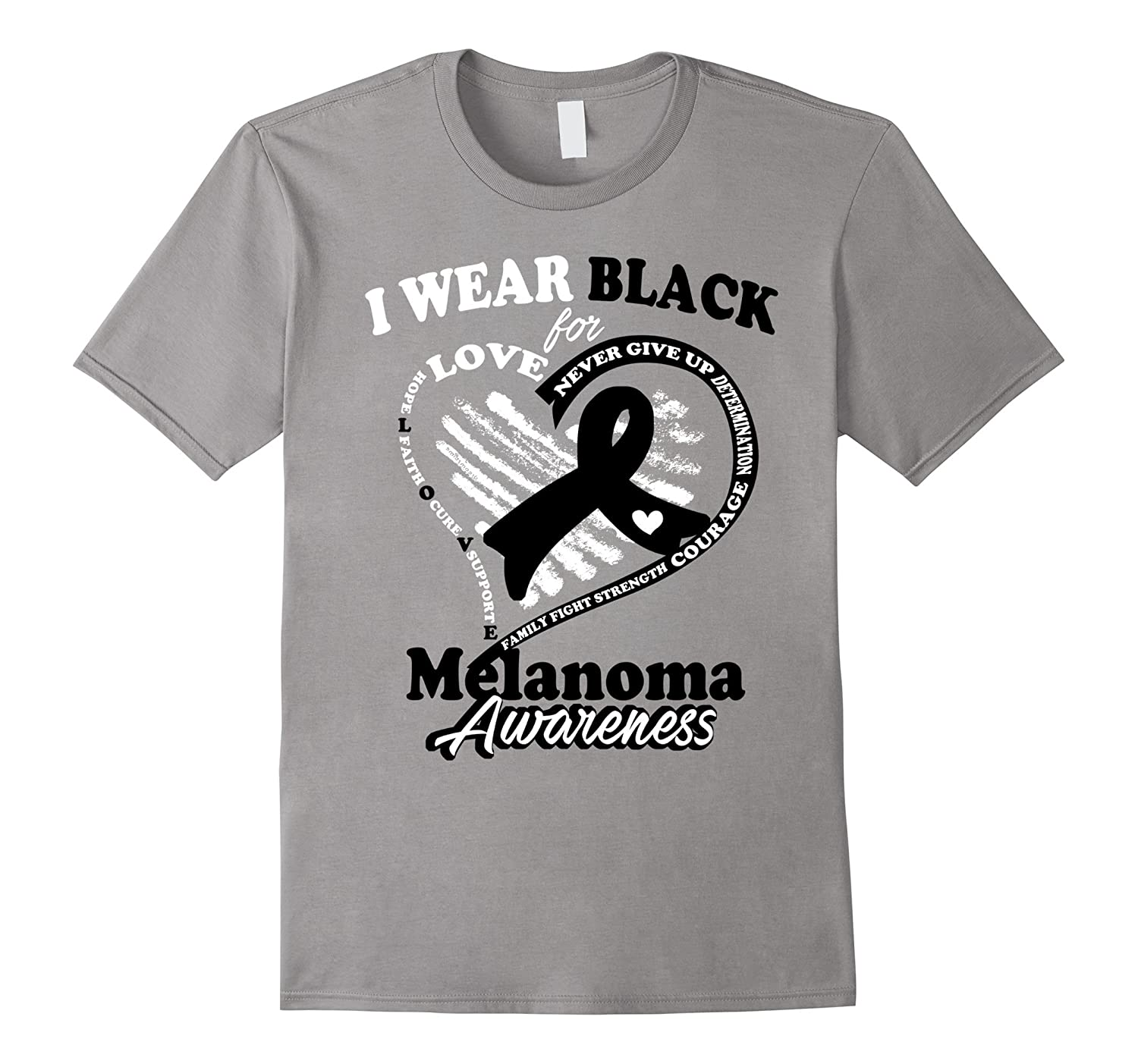 Melanoma Awareness T Shirt 2016 - I Wear Black For My Hero-CD