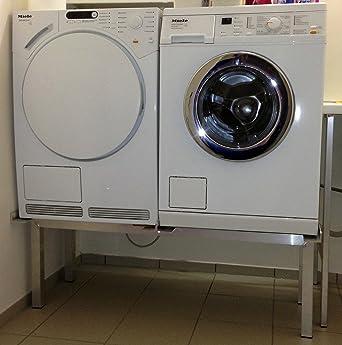 Waschmaschinen Untergestell Mara 2 High/Extra Hoch/Verstärkte Aluminium -  Ausführung/rostfrei/Unterbau für 2 Maschinen Trockner und Waschmaschine/