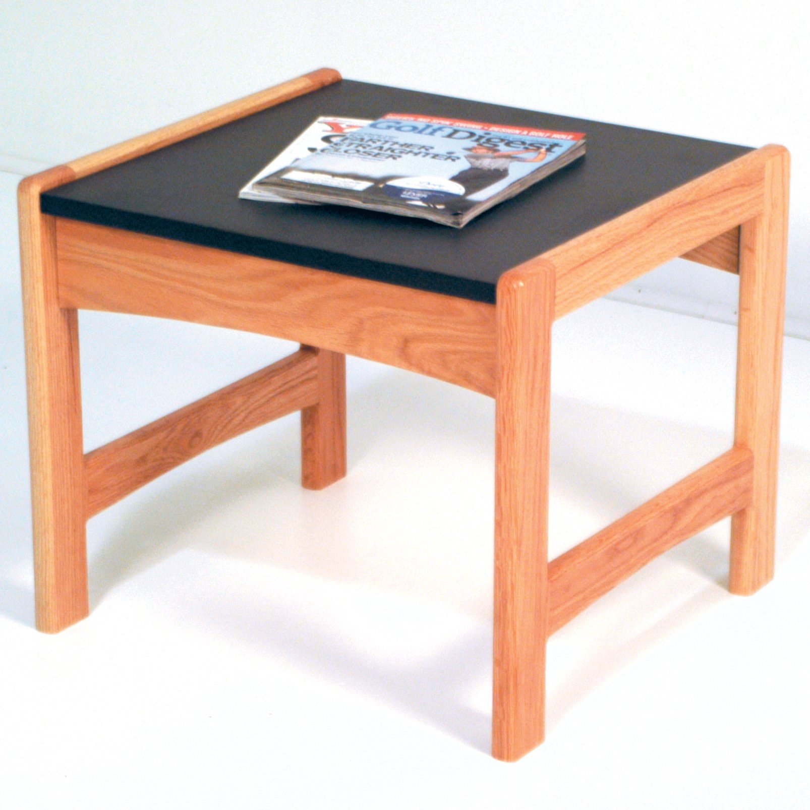 Wooden Mallet End Table with Black Granite Look Top, Light Oak by Wooden Mallet