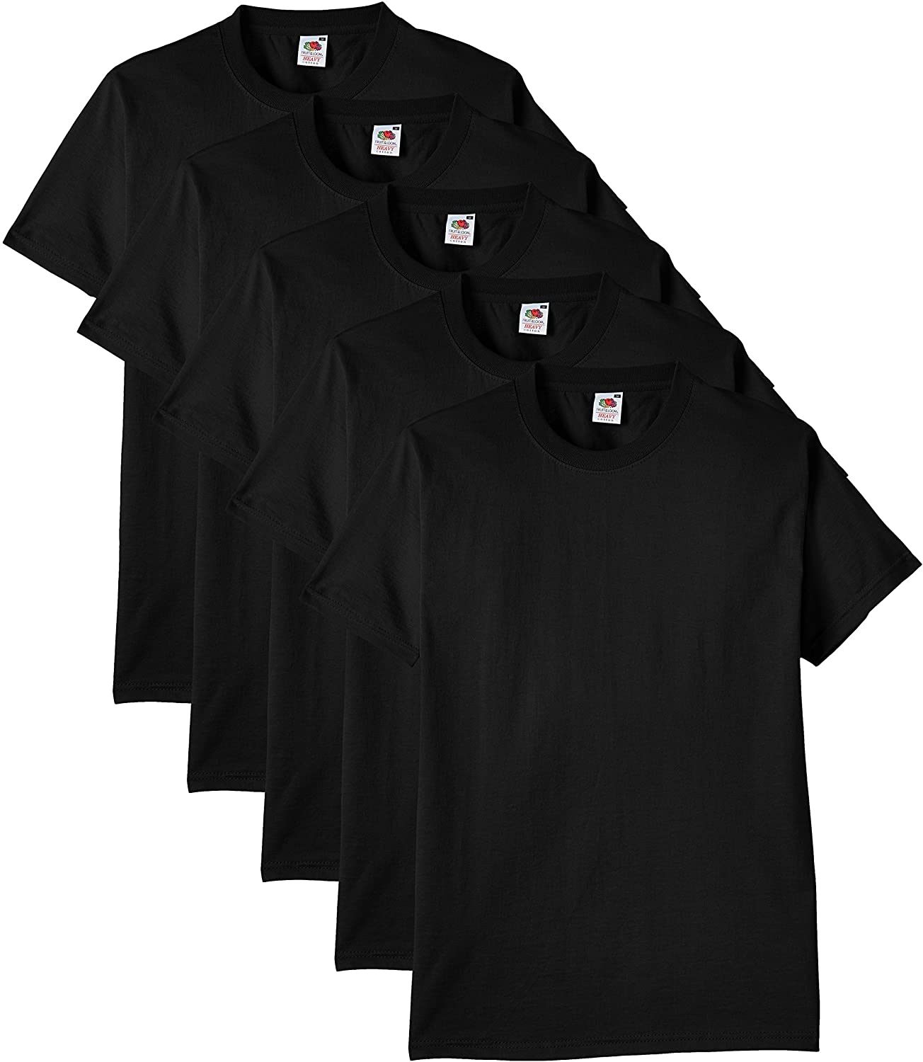 Fruit of the Loom Camiseta (Pack de 5) para Hombre