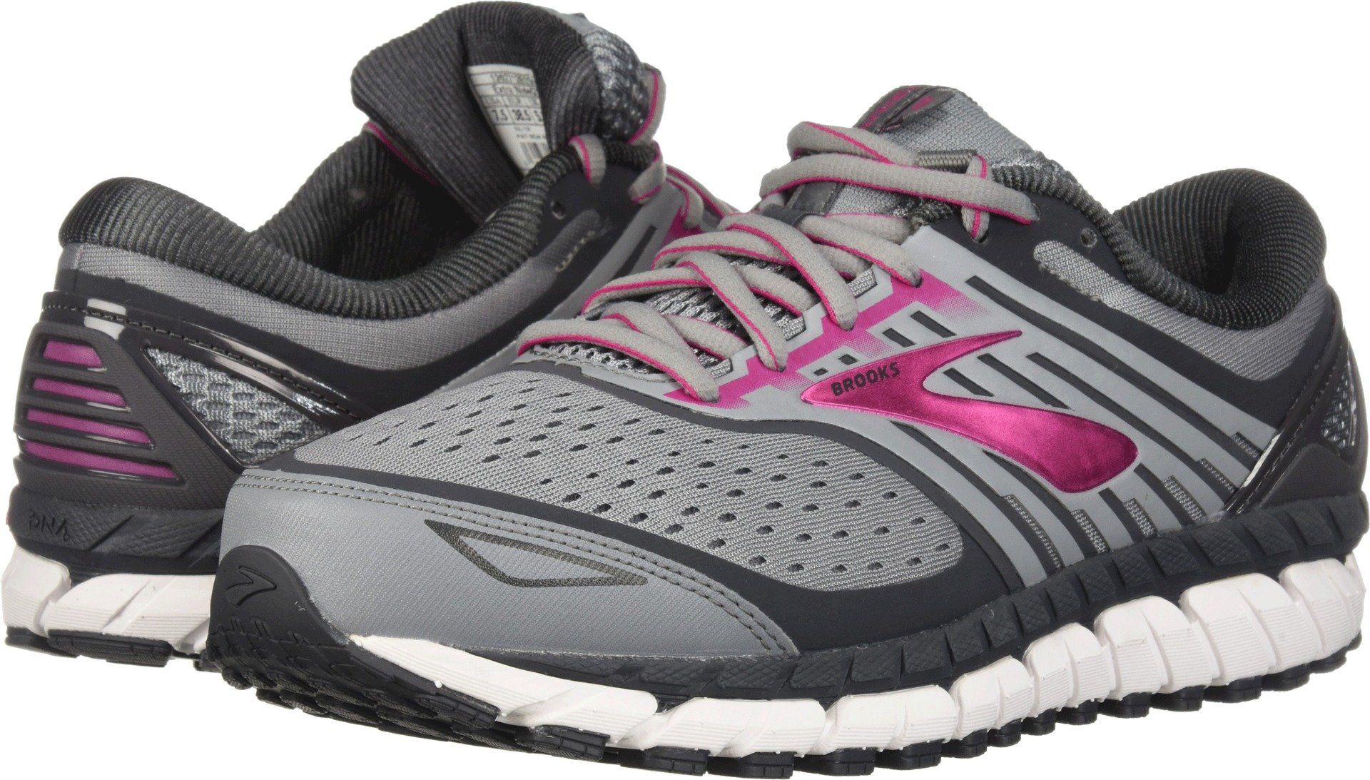 Brooks Women's Ariel '18 Grey/Grey/Pink 13 B US by Brooks