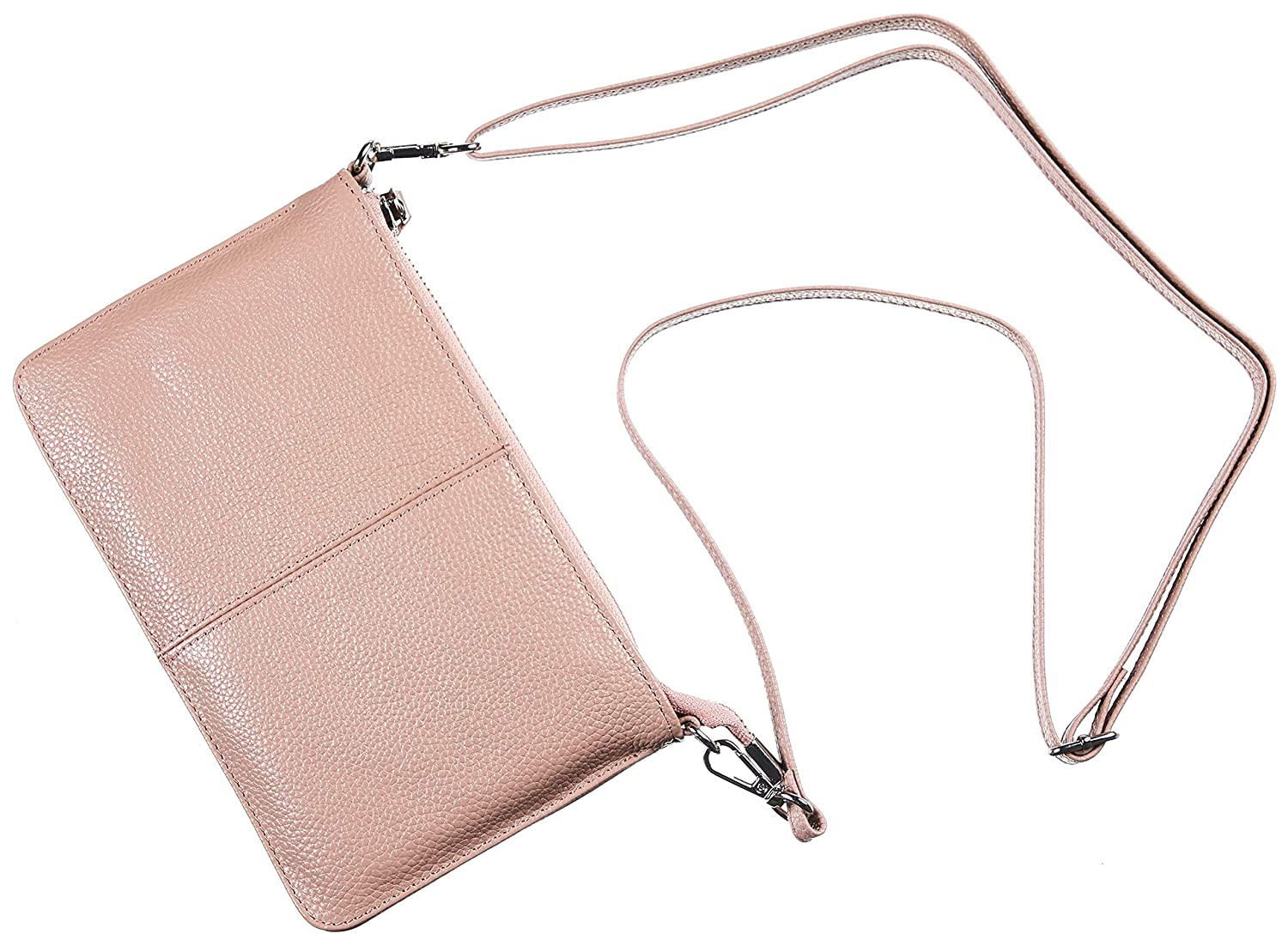 Gostwo Genuine Leather Small Shoulder Bag Wristlet Clutch Purse with Card Slots