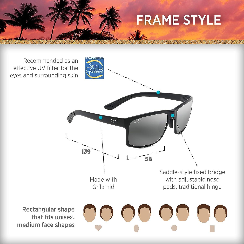 Maui Jim Pokowai Rectangular Frame Sunglasses
