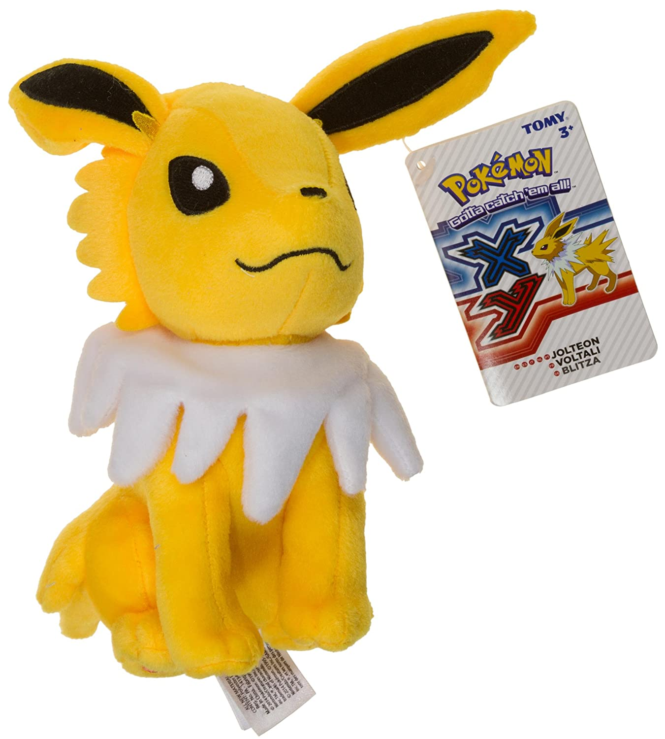 amazon com jolteon 7 5 mini plush pokemon evolution of eevee