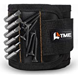 LATME Magnetic Wristband with 15 Strong Magnets for Holding Screws Nails Drill Bits-Best Armband Tool for DIY Handyman-Best Unique Gift for Men