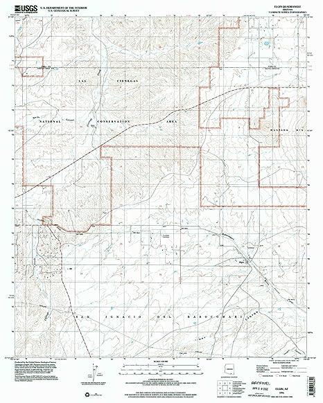 Map Of Elgin Arizona.Amazon Com Yellowmaps Elgin Az Topo Map 1 24000 Scale 7 5 X 7 5