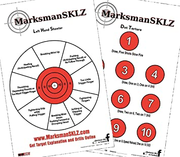 picture about Printable Pistol Correction Chart named MarksmanSKLZ Diagnostic and Doing exercises Pistol Taking pictures Goals (Pack of 20 + 5 Reward Drill Plans) Large Visibility 11\