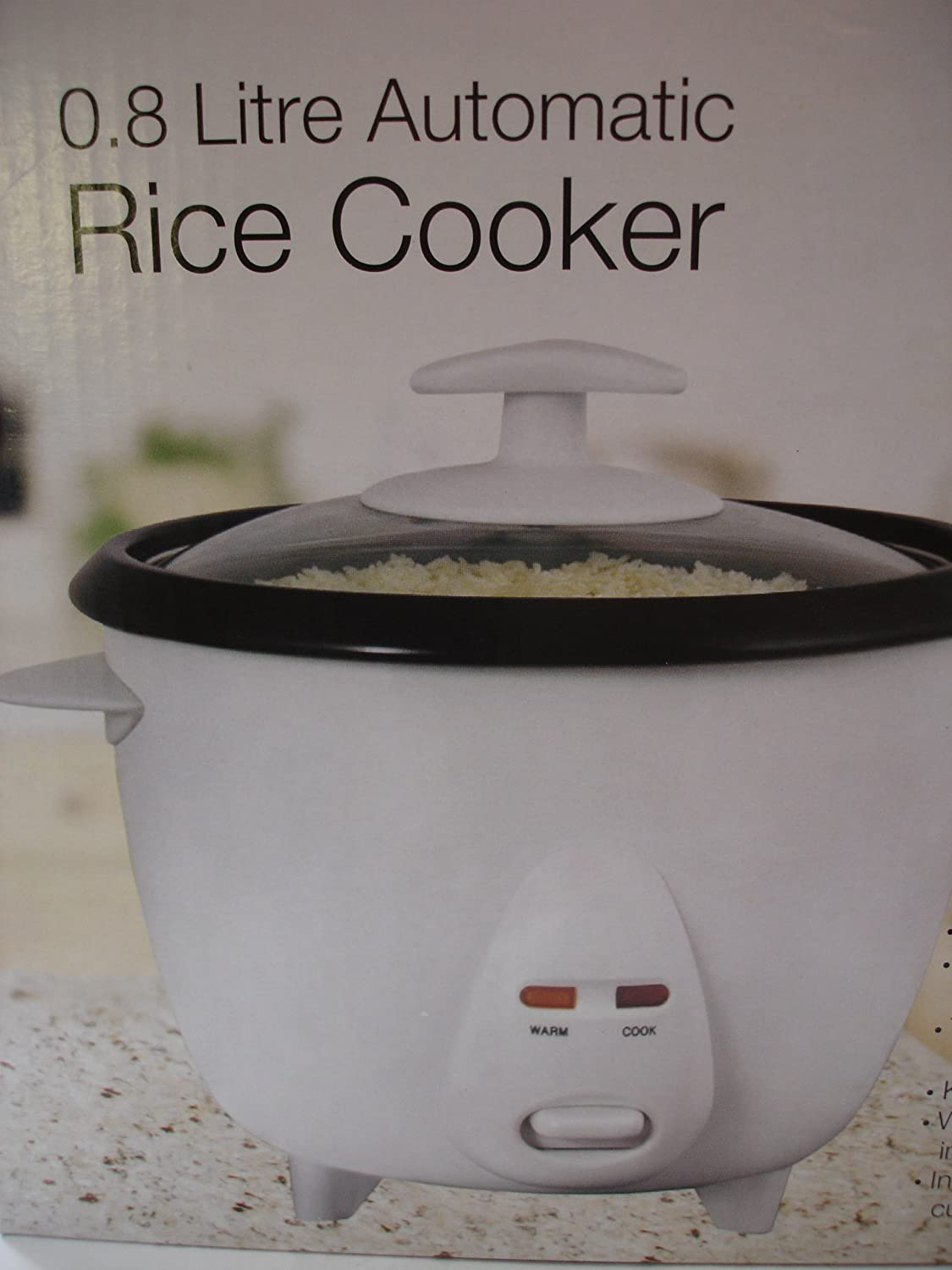 ELPINE AUTOMATIC RICE COOKER 0.8L NON STICK WITH MEASURING CUP 31201