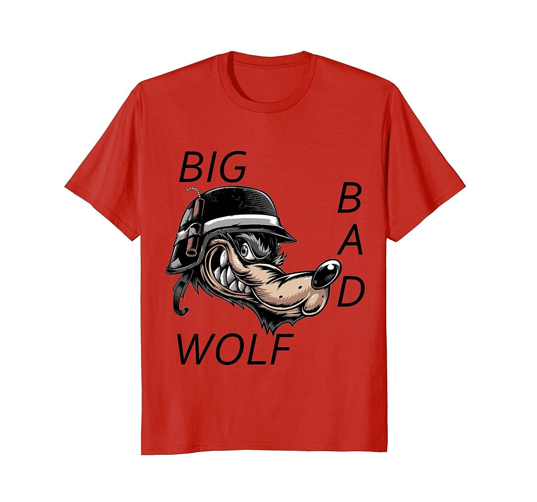 Big Bad Wolf Halloween Costume T-Shirt T Shirt Tee Shirt-mt