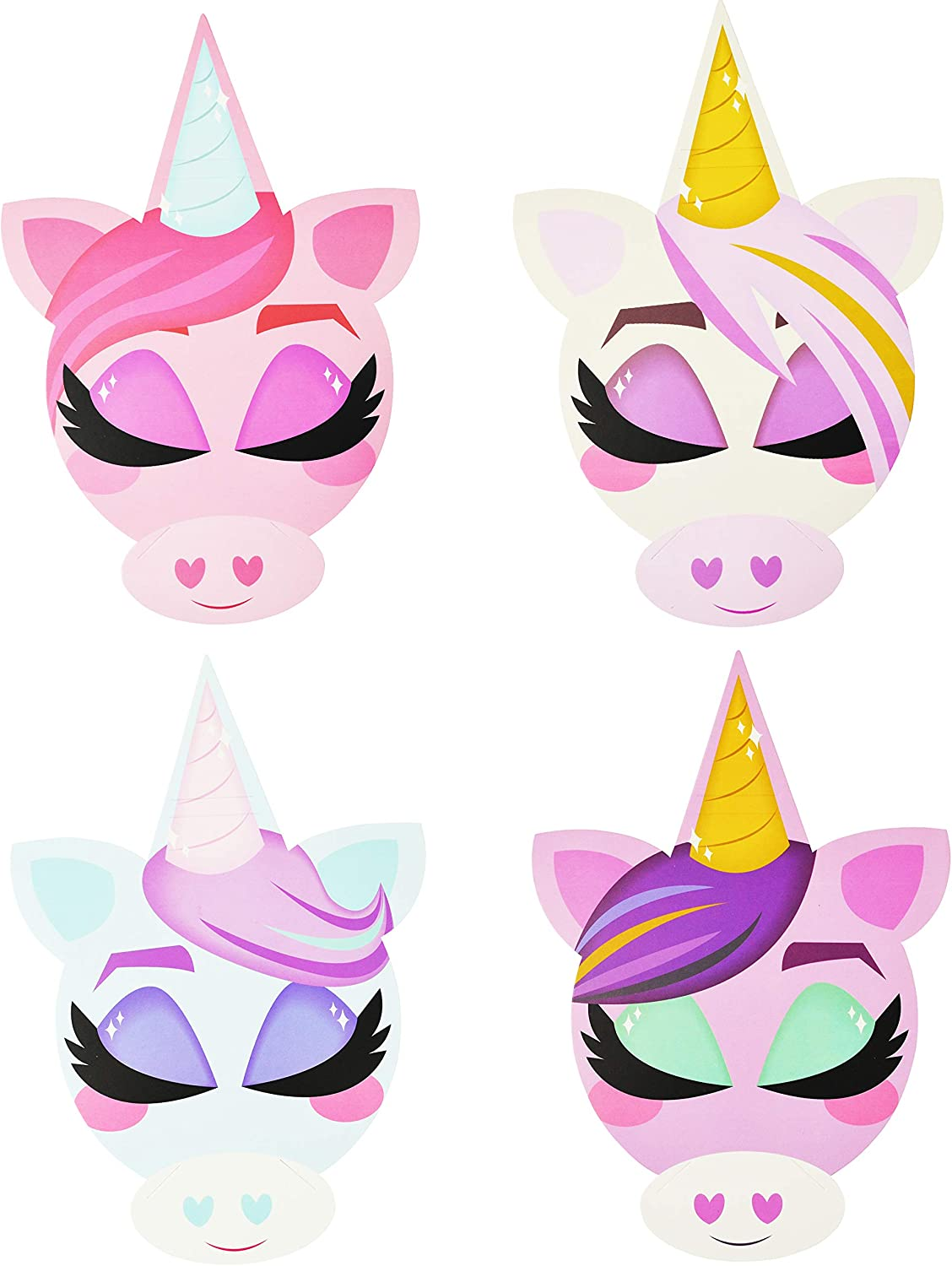 Classroom Prize Supplies 16 pcs Unicorn Headbands with Valentines Cards for Kids Party Favor Valentine/'s Greeting Cards