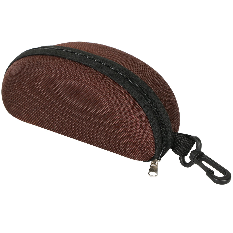 TRIXES Custodia protettiva sagomata testa di moro con zip per occhiali da sole.