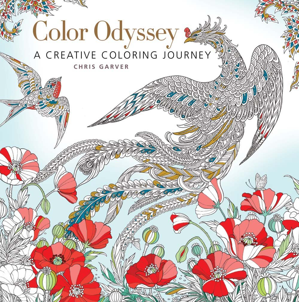 Coloring book color of art - Amazon Com Color Odyssey A Creative Coloring Journey 9781942021971 Chris Garver Books