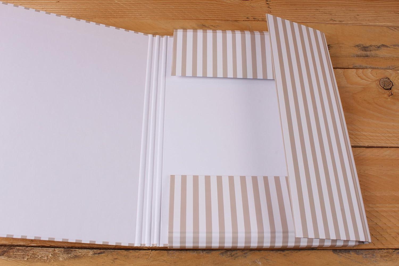 Carpeta M/édicos y Vacunas con peluches tendidos y greca de rayas beige