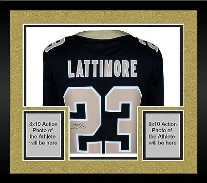 d8f533ca Framed Marshon Lattimore New Orleans Saints Autographed Black Nike Limited  Jersey - Fanatics Authentic Certified