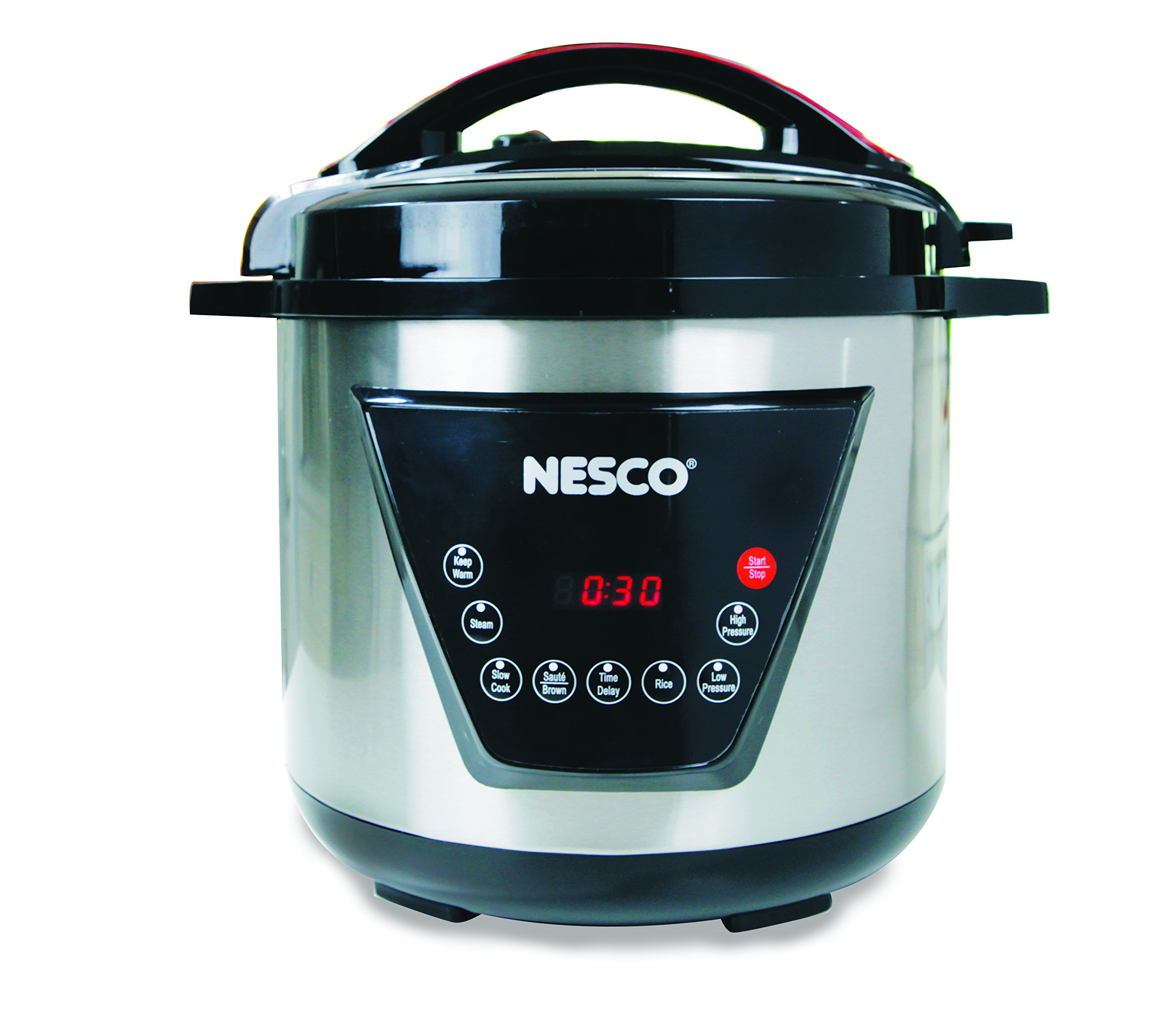 Nesco American Harvest Nesco PC8-25 Pressure Cooker, 8 quart, Silver/Black