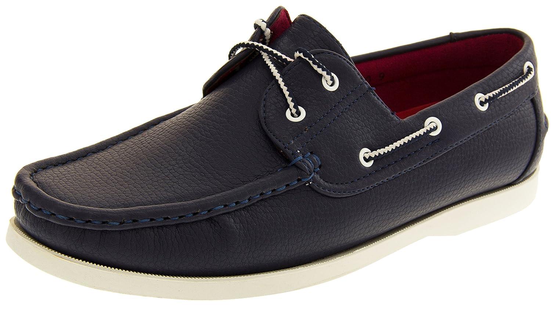 Shoreside Hombre Sintético barco zapato 43 EU Azul Marino (Suela Blanca)