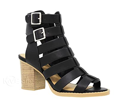 c4313d8b0 MVE Shoes Women s Open Toe Strappy Chunky Heeled-Sandal