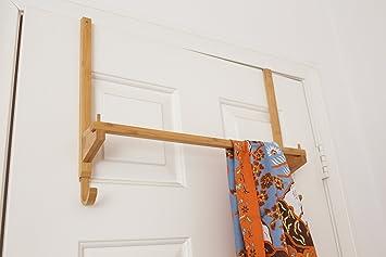 overthedoor towel rack with hooks for bedrooms or bathrooms