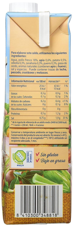 Gallina Blanca Caldo Casero Suave de Pollo, 100% natural - 1000 ml: Amazon.es: Amazon Pantry