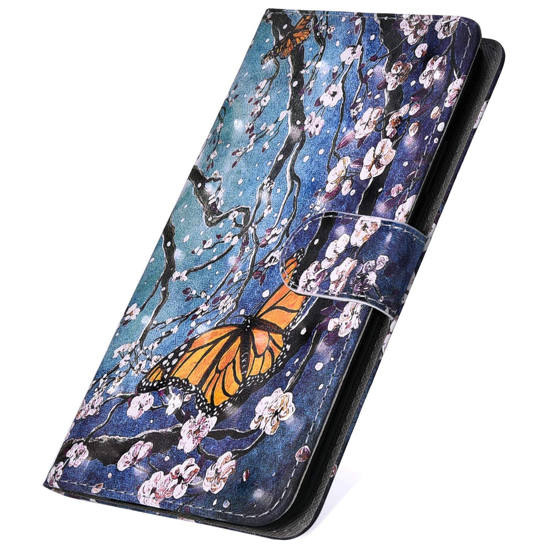 SainCat Custodia Libro Portafoglio Pelle 3D Bling Bling Ultra Sottile con Chiusura Magnetica Funzione Supporto Antiurto 360 Gradi Premium Flip Cover per Samsung Galaxy A20-Fiore del Sole