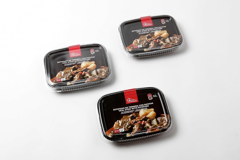 MASIA ARTESANA - Estofado De Ternera Con Patatas - Pack de 3 unidades: Amazon.es: Alimentación y bebidas