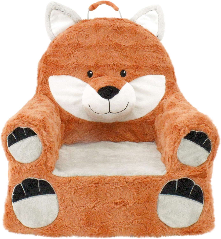 Soft Landing | Sweet Seats | Premium Fox Children's Plush Chair, Orange