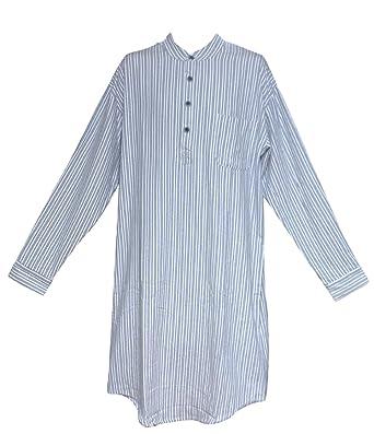 4945f2964f Lee Valley LV2 Blue Ivory Stripe Genuine Irish Flannel Nightshirt