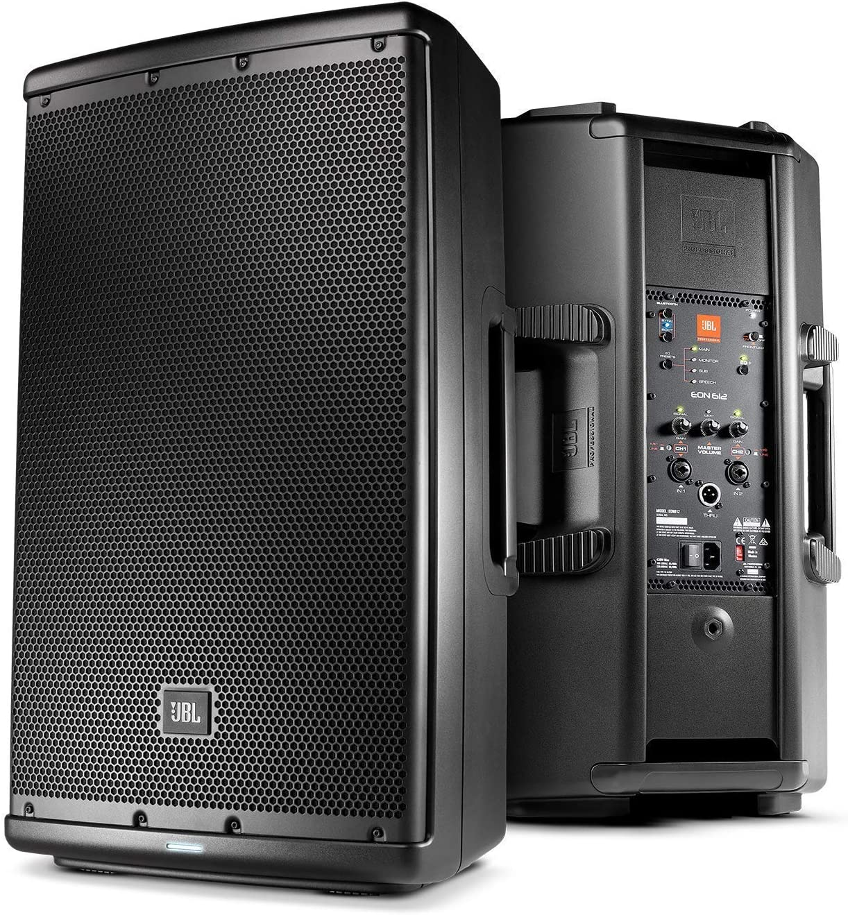 Cable Ties and 1-Year Warranty Renewed JBL Professional EON612 Portable 12 2-Way Multipurpose Self-Powered Sound Reinforcement Speaker with 10ft XLR